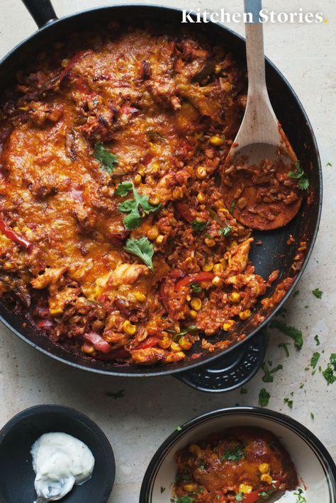 Mexikanischer Hähnchen-Reis-Auflauf
