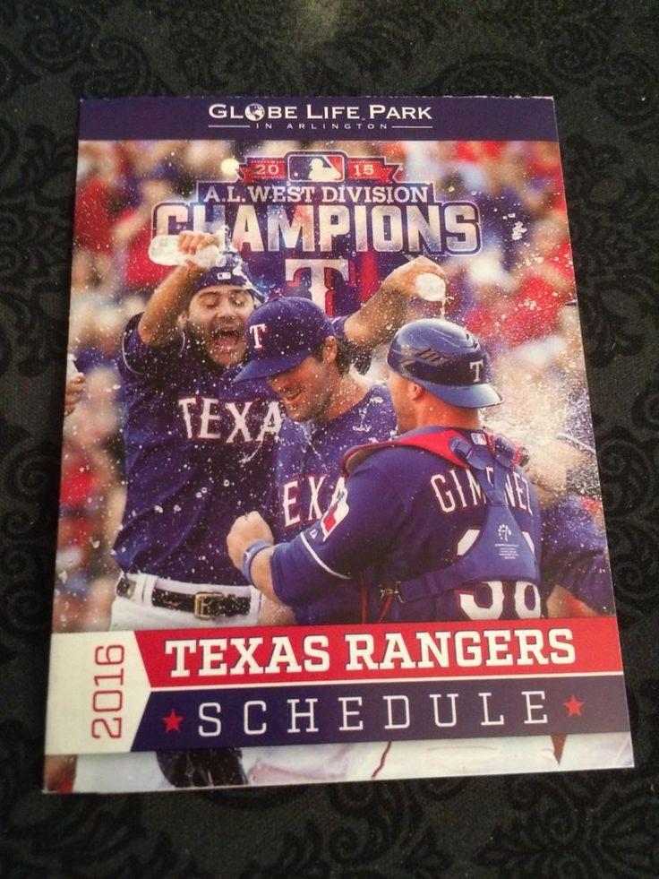 2016 Texas Rangers Pocket Schedule Cole Hammels, Chris Giminez, Martin Perez