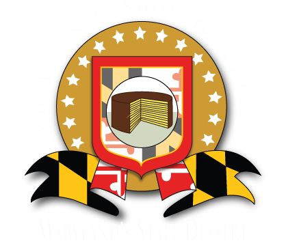 """I love that my state has an """"Official State Dessert."""" Maryland State Dessert Logo. Smith Island Baking Co."""