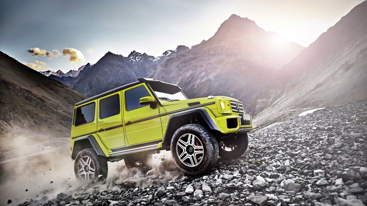 Who wants one? Mercedes G 500 4x4 is mighty mean and bright lime green