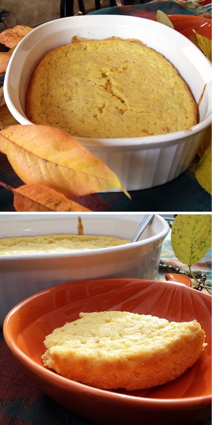 Easy 4-Ingredient Corn Pudding that can be made in almost anyone's kitchen! A perfect dairy-free side dish recipe for Thanksgiving