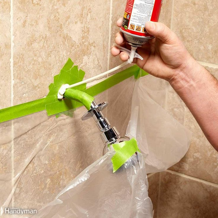 Firm Up a Wobbly Showerhead - Squirt a little expanding foam around a loose shower arm, and it'll be solid as a rock. Let the foam set up until it's stiff and carve off any excess around the shower arm. Slide the cover plate tight to the wall and you'll never know there's foam holding things together. This same trick firms up any other loose or wobbly pipe.