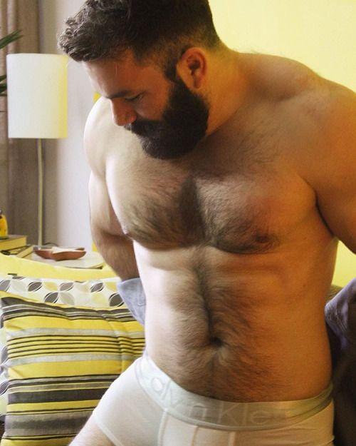 husky hairy men