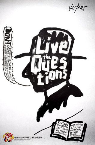 Rilke/Live the Question - James Victore