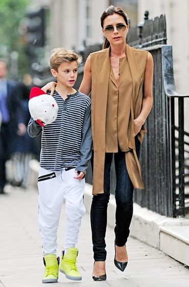 Victoria Beckham and son Romeo