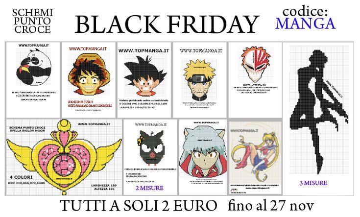 schemi punto croce black friday manga