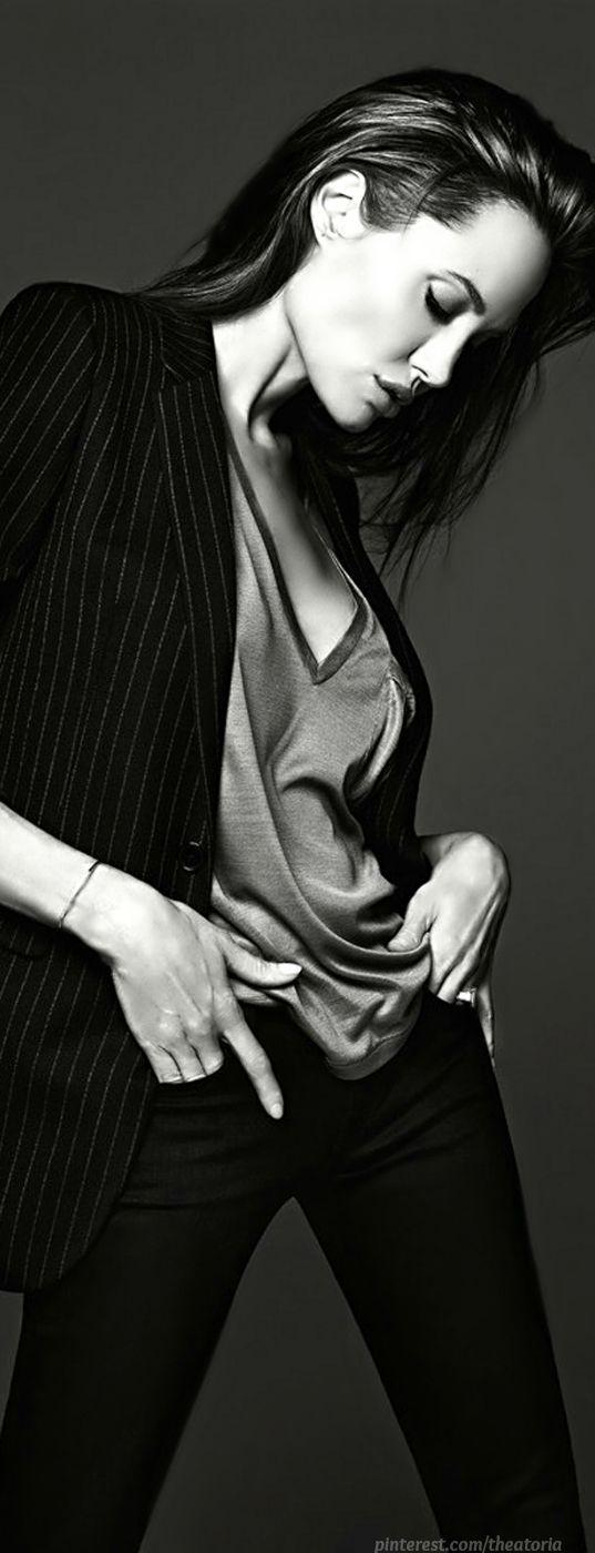 Angelina Jolie in Yves Saint Laurent ● ELLE Magazine, June 2014 #saintlaurentdiscount