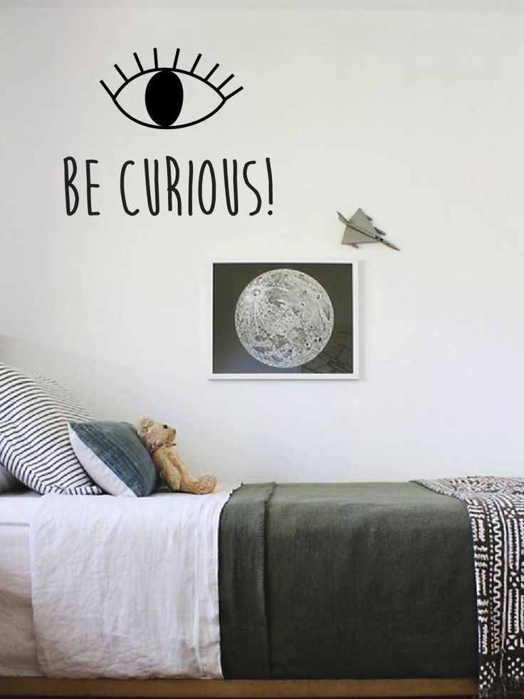 Wall decal quote be curious