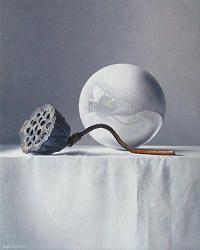 Vijftig tinten paars | schilderij van een stilleven in olieverf van Adriana van Zoest | Exclusieve kunst online te koop in de webshop van Galerie Wildevuur