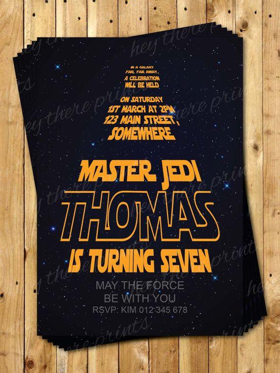 Star Wars Birthday Invitations  Darth Vader by HeyTherePrints, $13.00