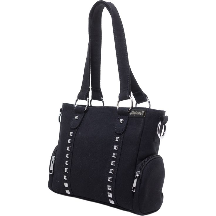 Inked Boutique - Mini Leda Canvas Stud Purse  Punk Goth Studded www.inkedboutique.com