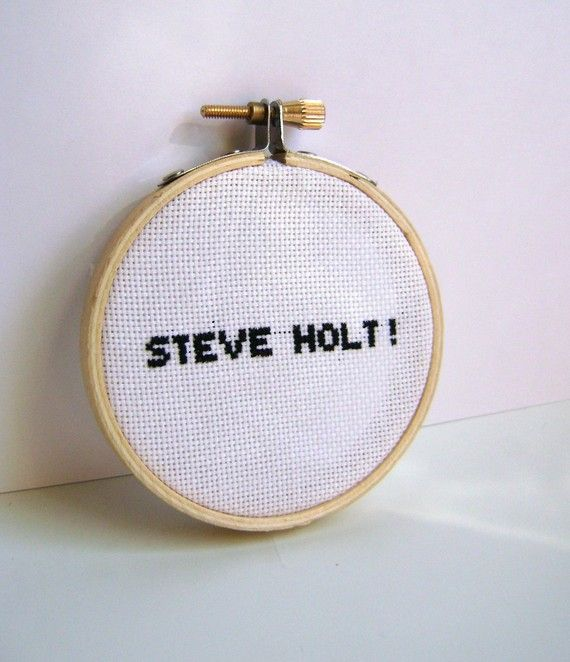 Arrested Development Steve Holt Embroidery Hoop Art by GraceyMay, $18.00