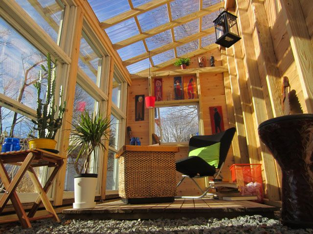22 best 55 gallon drum ideas images on pinterest for Tiny house with greenhouse