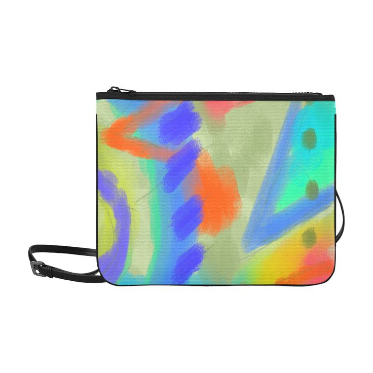 Leather Statement Clutch - Beautiful Abstract Art by VIDA VIDA BLVAR