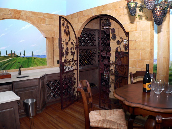 tuscan indoor gate I want this in my house!