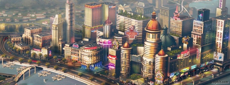 Simcity game concept art 2013 facebook cover photo | Covers Photos | FB HD Cover Images | Facebook Timeline Covers