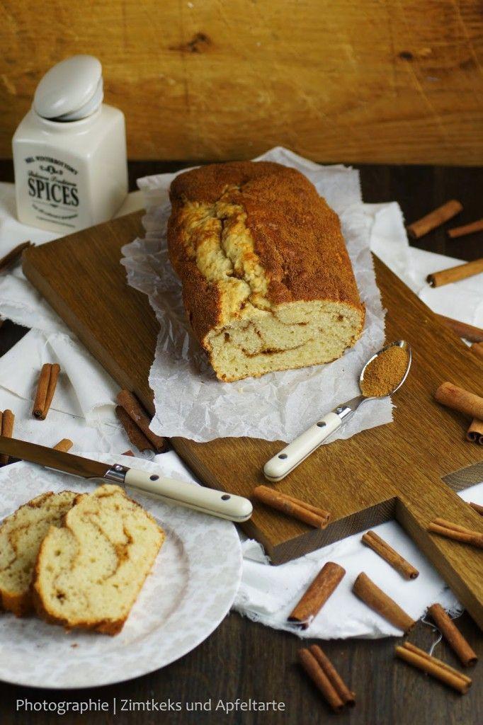 Mein Cinnamon-Roll-Kuchen mit kaum Fett und Zucker... - Zimtkeks und Apfeltarte