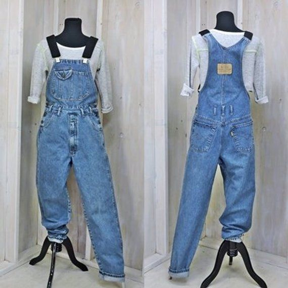 d09e902e Vintage Overalls S M 34 X 32 / denim bib overalls / 80s McCoy mens or  womens overall jeans