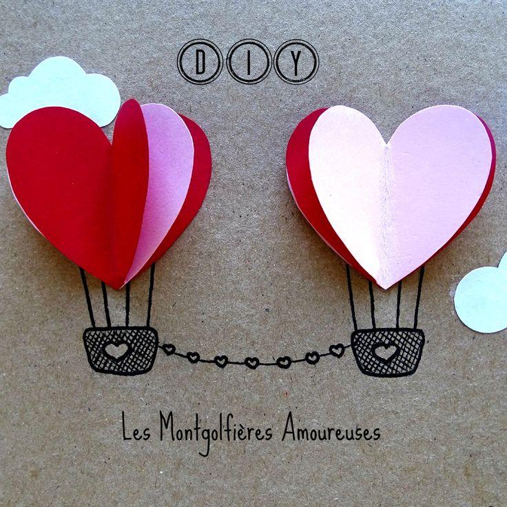 DIY carte saint valentin coeur