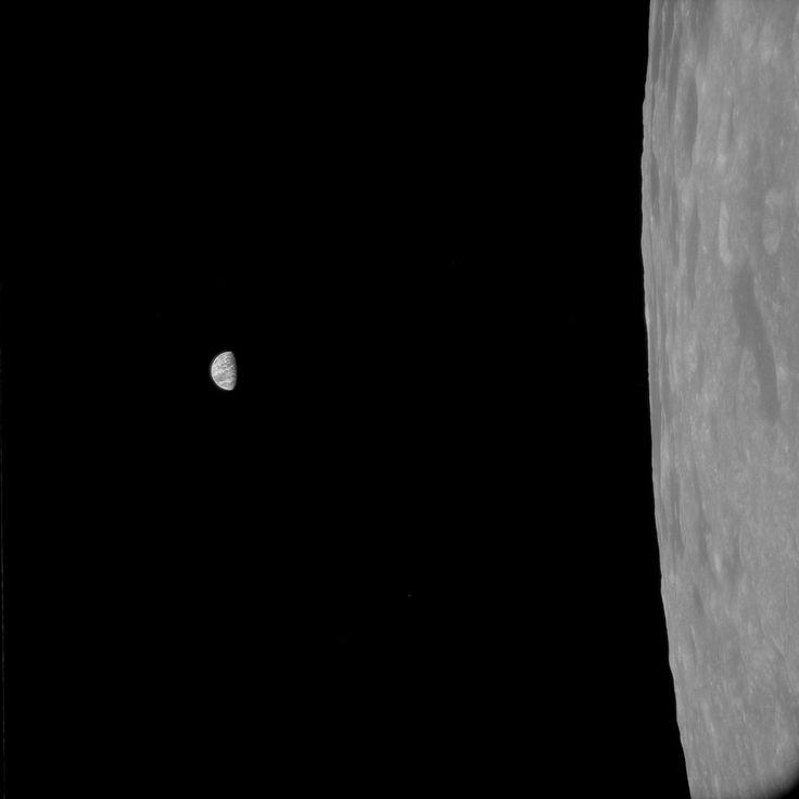 (Processed) Apollo 11 Hasselblad image from film magazine 41/P - Lunar orbit