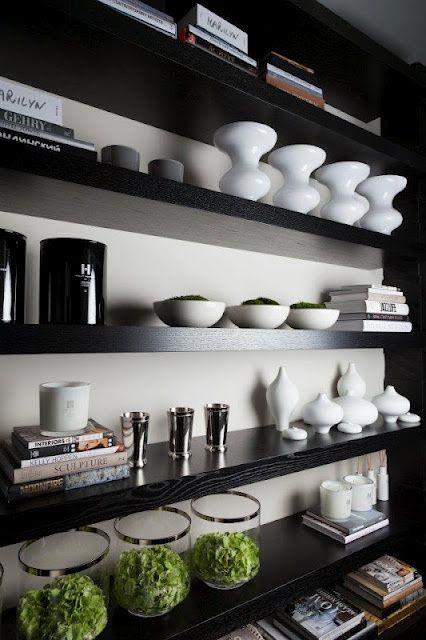 bookcase styling by kelly hoppen: