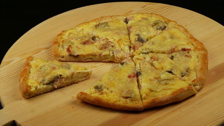 Λαχταριστή πίτσα καρμπονάρα