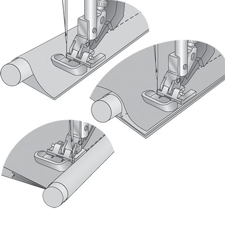 Pfaff - Grand Piping Foot for IDT™ System