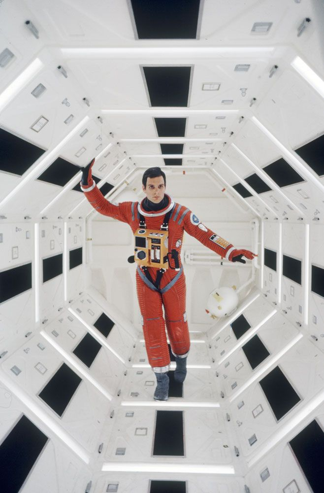 2001: A Space Odyssey. Love all the exposed wired/buttons on the suit. This has a bit of glamour about it, but still has elements of that rough functionality.