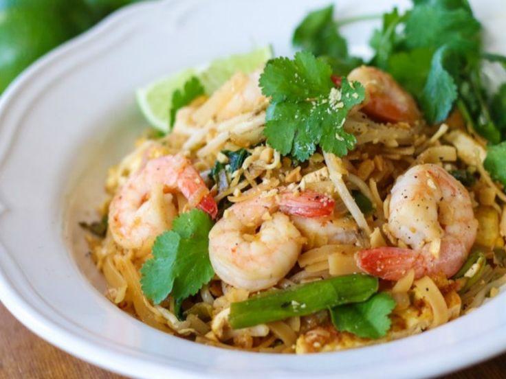 Easy Shrimp Pad Thai   R e c i p e s   Pinterest
