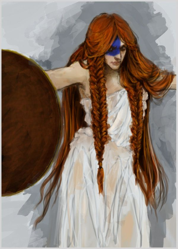 so autumn was based on Queen Boudicca (also spelt Boudica, Boadicea etc etc), because at the beginning they're both just normal girls, but then when faced with a challenge and hardship, they grow into this fabulous warrior that I think is brilliant.