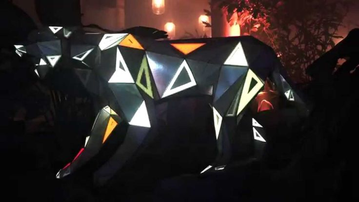 Tiger.5083R.04 Projection Mapping Sculpture - Textielhaven 2015