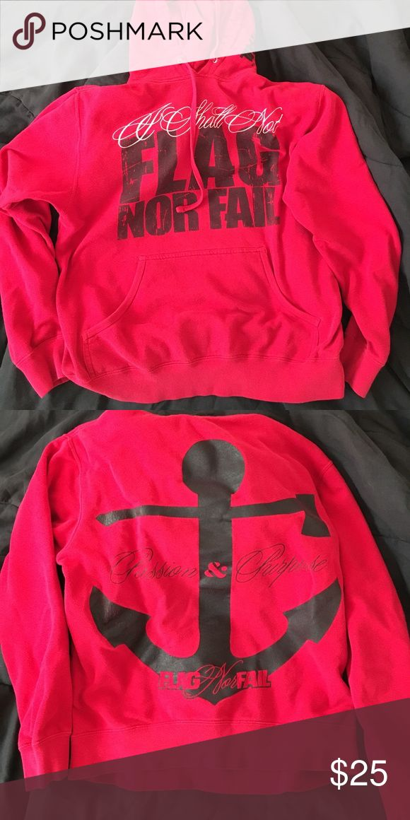 ❤️❤️❤️ RED FLAG NOR FAIL HOODIE Super limited edition size small, this sweatshirt has def been loved which is why it's priced lower than my other hoodies. It has one microscopic hole but the pocket which you really can't see unless you're looking for it. Open to offers no trades bundle to save Flag Nor Fail Tops Sweatshirts & Hoodies