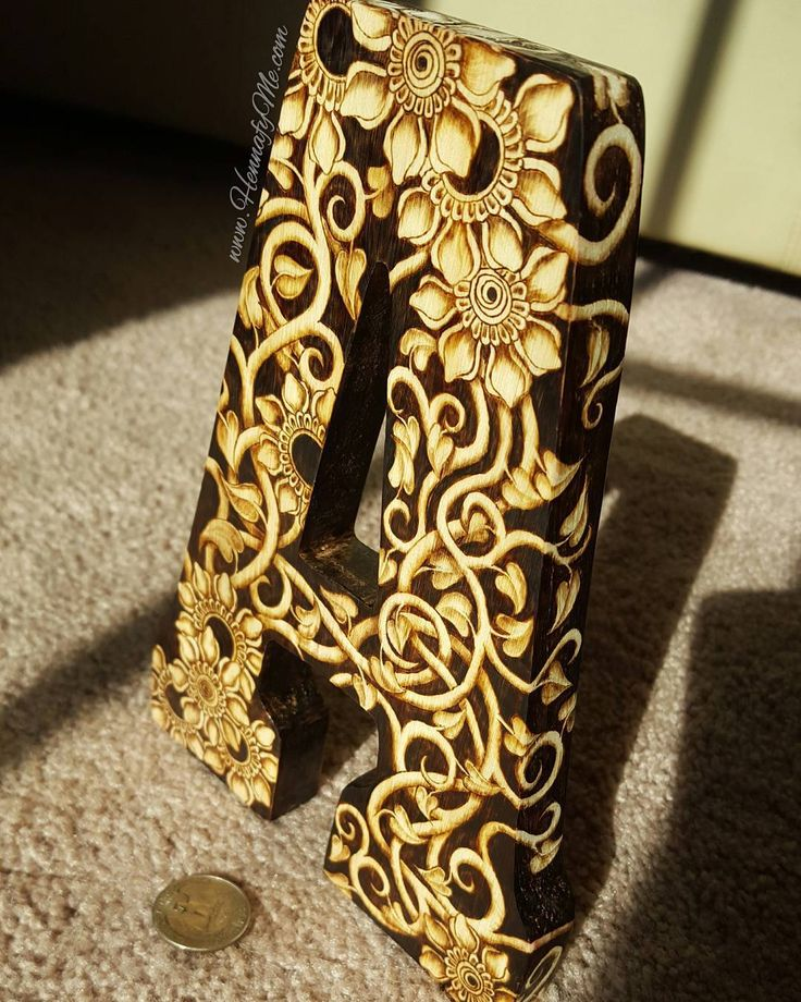 27 best pyrography wood burning images on pinterest wood had so much fun tuning a blank wooden letter spiritdancerdesigns Images