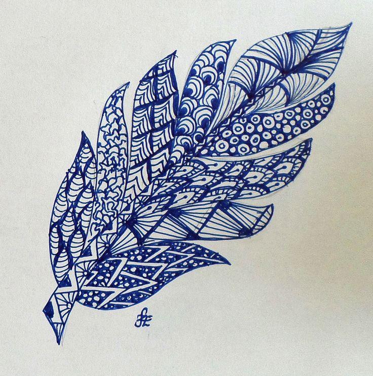 Zentangle pattern made of Erika Székesvári