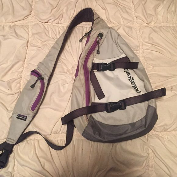 Patagonia bag Really cute Patagonia bag, it has some stains but still on the inside and shoulder strap but still has a lot of life left in it! Patagonia Bags Crossbody Bags