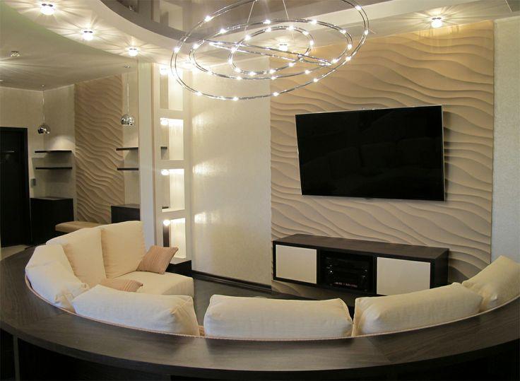 3d панель Rifinitura Duna. http://rifinitura.ru/produkciya/duna Интерьер квартиры, г. Москва
