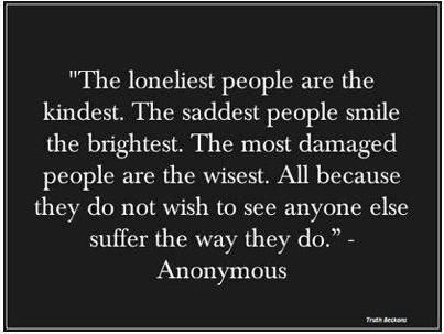 All the qualities are invisible because the people are shy and have few friends