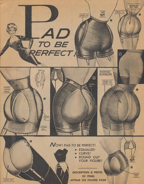 """""""Pad to be perfect!"""" advertisement for c. 1950s."""