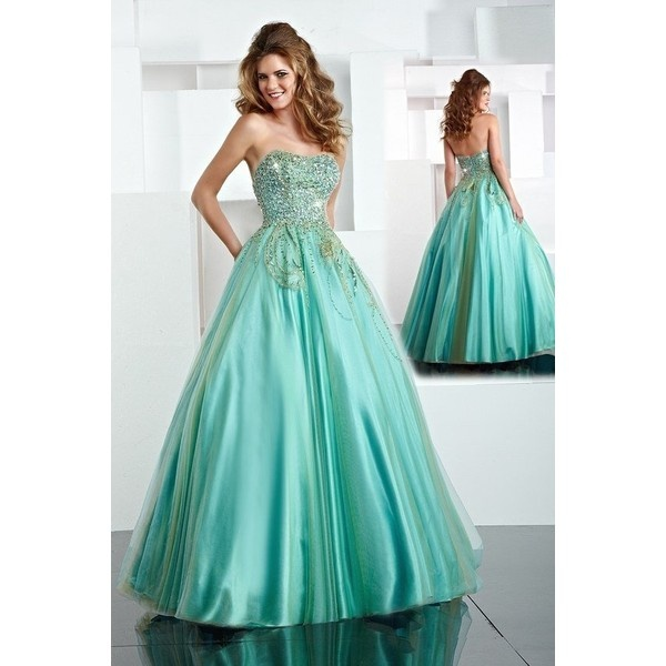 Mint Green Evening Gown – fashion dresses