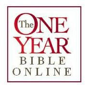 One Year Bible Online - not the one I am using (no image to pin - sad face) but still a good one that I found.