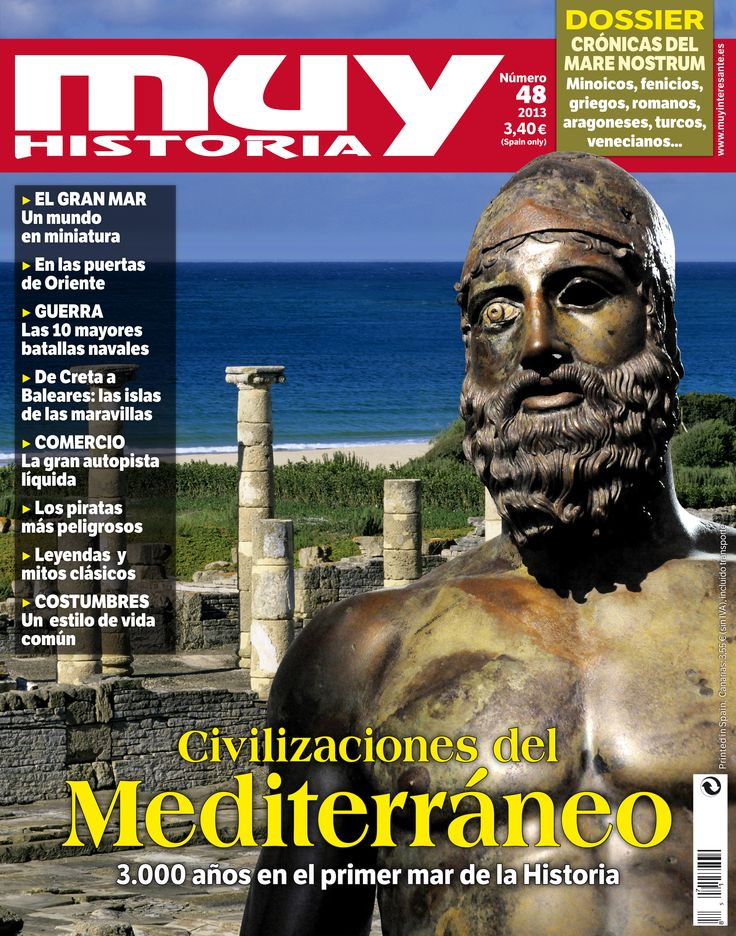 Portada del número 48 de la revista Muy Historia dedicada a las grandes civilizaciones del Mediterráneo
