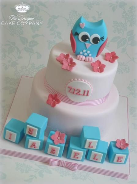 Owl Baby Shower Cake tutorial - SugarEd Productions