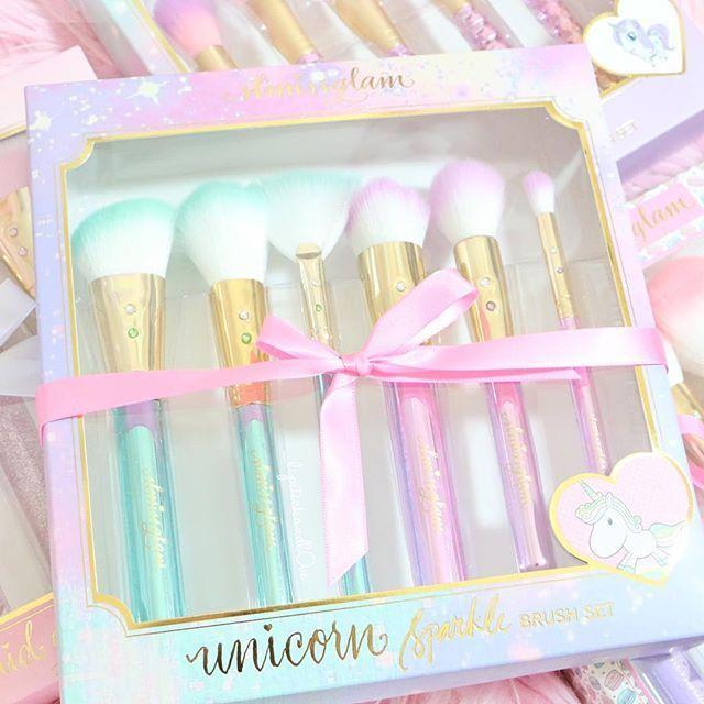 "Omg so so cute✨✨ @slmissglam ""unicorn sparkle set""✨ use the code ""unicornsparkle"" for 20% off fairytale glam sets"