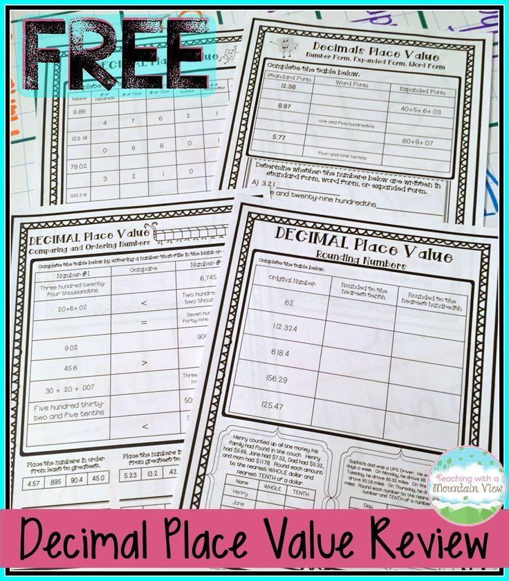 65 best Math {Decimals} images on Pinterest Teaching math, Math - decimal place value chart