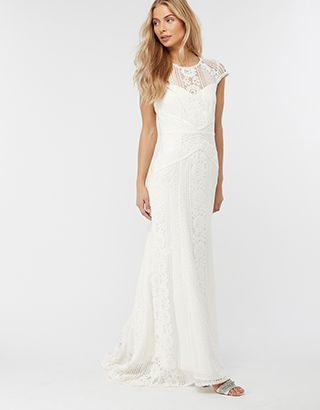 d14d80e83aac Meghan Geo Lace Maxi Wedding Dress   Ivory   UK 16 / US 12 / EU 44    6402014616   Monsoon