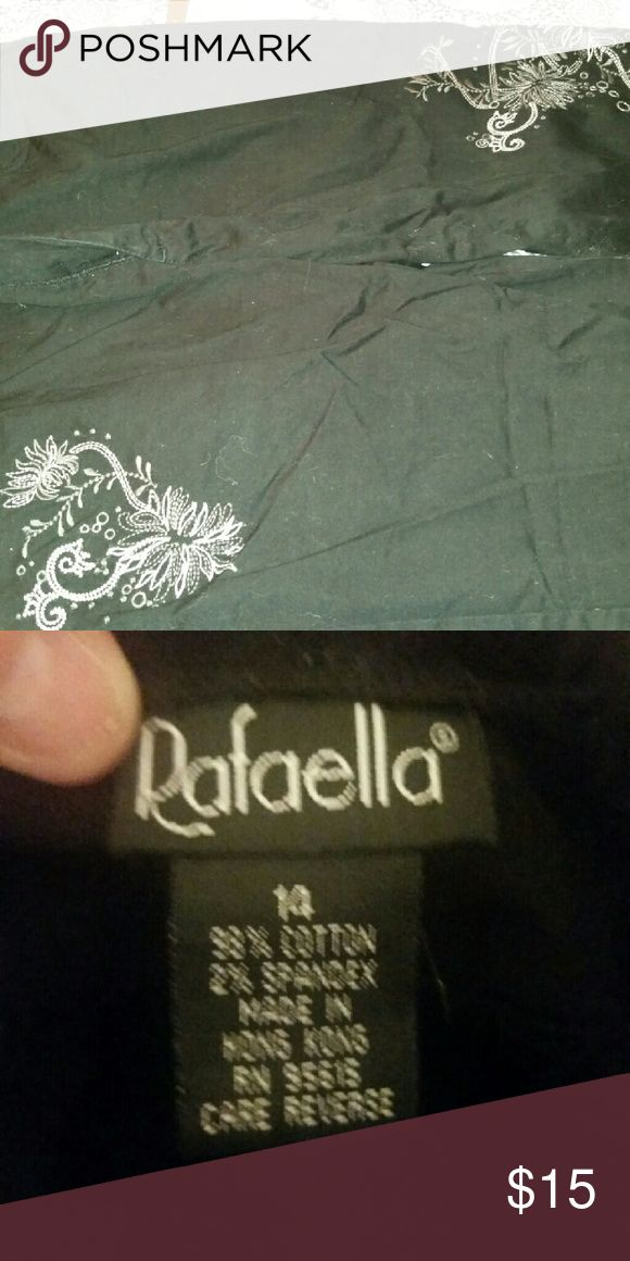 Rafaello crop pants Super cute crop pants with fancy stitching. Worn once or twice. I buy clothes, don't try them on and when they don't fit right, your gain Rafaella Pants Capris