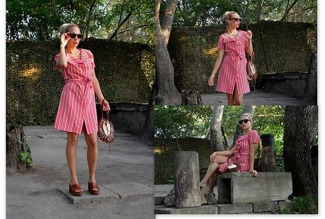 Fashion by Hajdi Djukic from Serbia #Batashoes #clogs #pink #brown #style