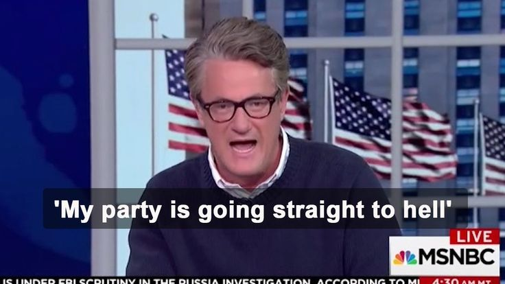 This Morning Joe's segment was surreal as Joe Scarborough slammed his party for what it has become. He said the Republican Party is going straight to hell. But what he said after is damning.    Joe Scarborough got real on Morning Joe as he slammed his...