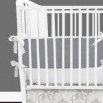 Gray Neutral Designer Created Crib Set - Gender Neutral Baby Bedding - Designer Created Crib Sets www.babybumpbedding.com Baby Bump Bedding