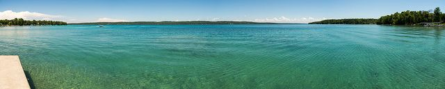 A panorama of Torch Lake